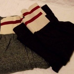 GARAGE  Sweater Leggings Gray and Burgundy